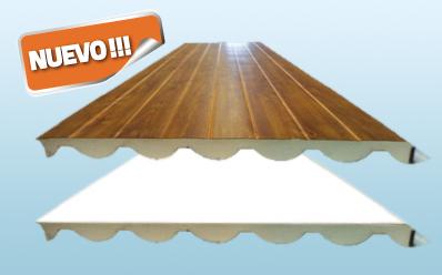 Panelteja paneles sandwich tipo teja acabados panel teja for Chapa imitacion teja sin aislamiento